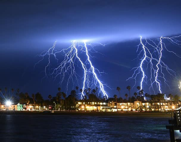 Santa Barbara lightening